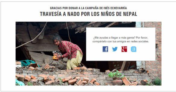 Agradecimiento Apoyo Campaña Terremoto Nepal 1000px