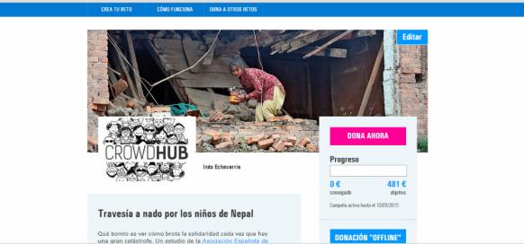 Crowdfunding Solidario por el Terremoto Nepal