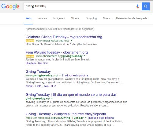Resultados de búsqueda de Giving Tuesday