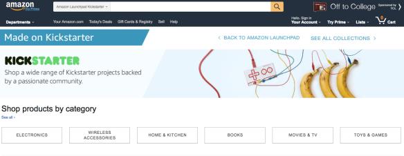 Amazon Launchpad Kickstarter